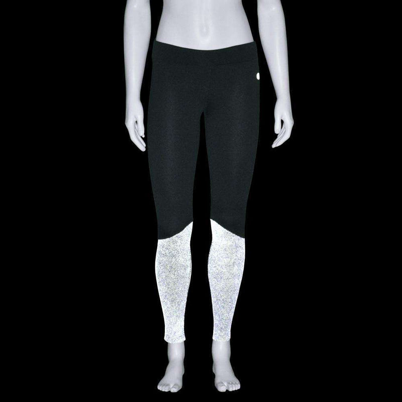 Satellite Reflective Women's Running Tight in Black Firenz