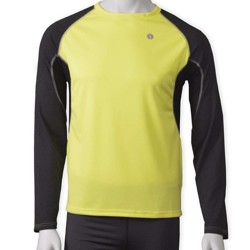 Sentinel Reflective Men's Long Sleeve Shirt in Flo Lime/Black