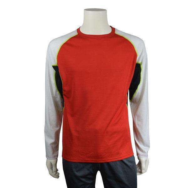 Sentinel Reflective Men's Long Sleeve Shirt in Red/White