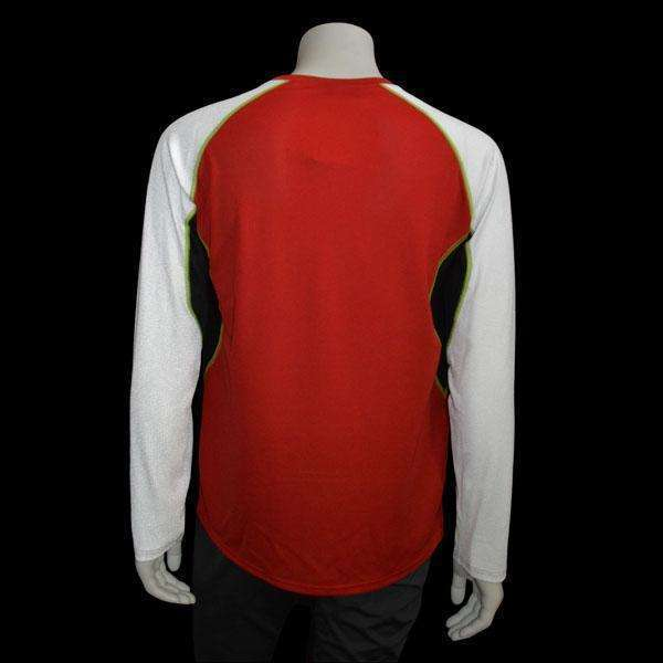 Sentinel Reflective Men's Long Sleeve Shirt in Red/White--CLEARANCE