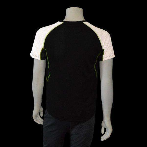 Sentinel Reflective Men's Short Sleeve Shirt in Black/White