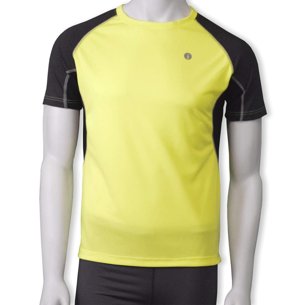 Sentinel Reflective Men's Short Sleeve Shirt in Flo Lime/Black