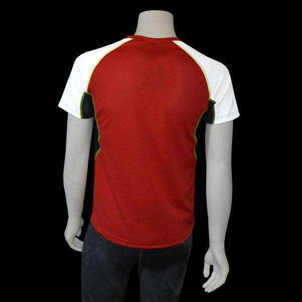 Sentinel Reflective Men's Short Sleeve Shirt in Red/White