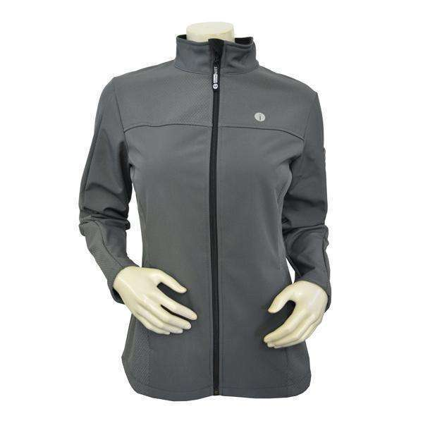 Tahoe Women's Performance Softshell Fleece Reflective Jacket in Graphite