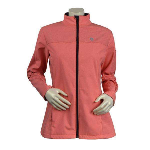Tahoe Women's Performance Softshell Fleece Reflective Jacket in Salmon