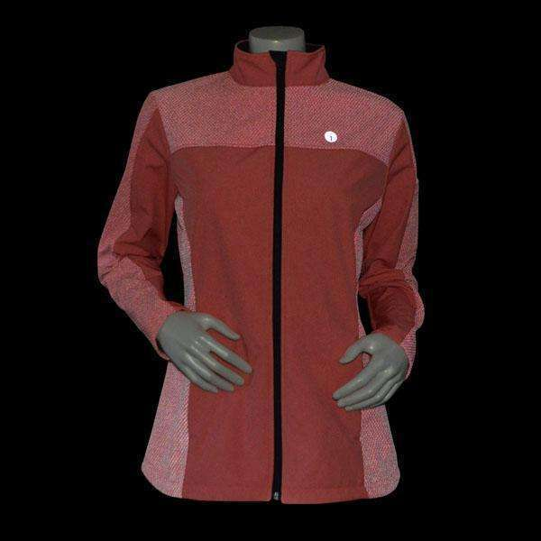 Albany Reflective Women's Softshell Jacket in Beetroot/Flo Lime