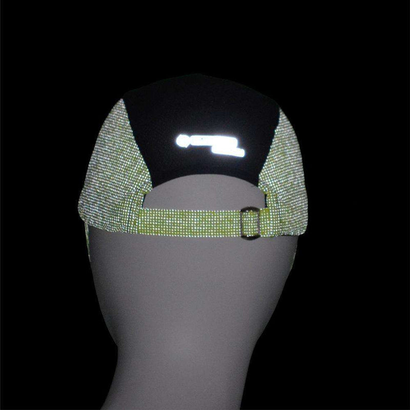Unisex 10K Reflective Mesh Running Hat in Flo Lime