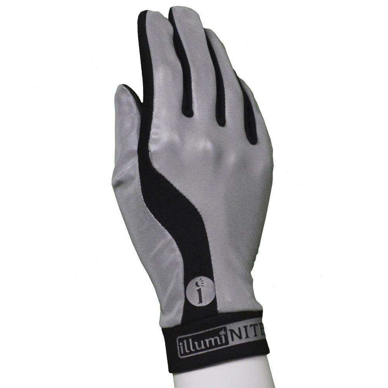 Reflective Fingerless Cycling Glove in Flo Lime