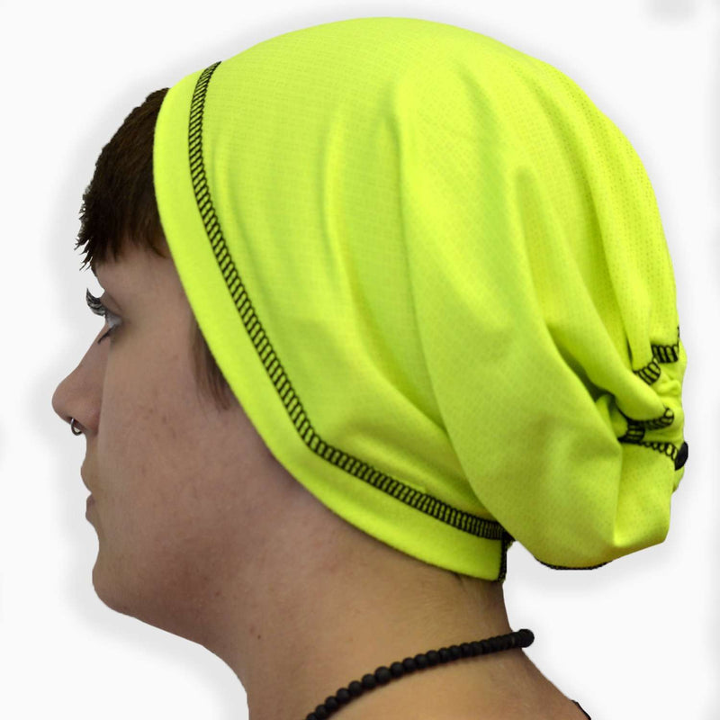 Unisex Convertible Reflective Cinch Scruff for Head and Neck in Two Colors