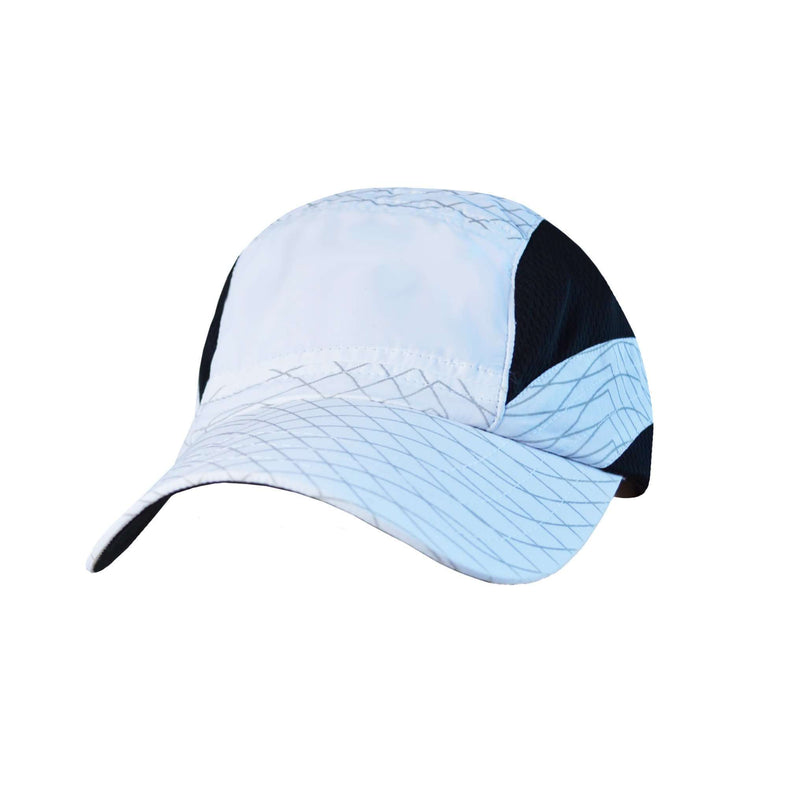 Unisex Reflective Vista Cap in White Swirl