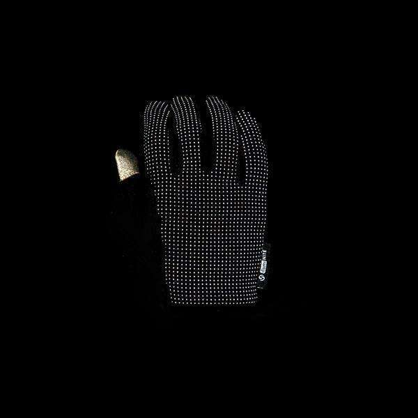 Unisex Second Skin Reflective Glove in Black