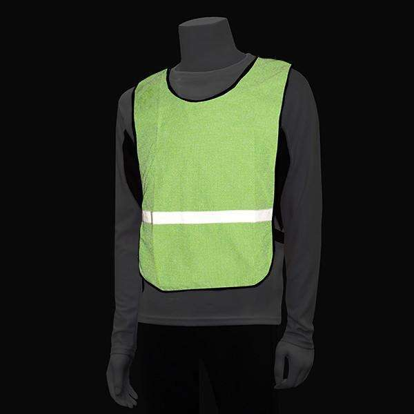 Vizi Reflective Bib in Flo Lime