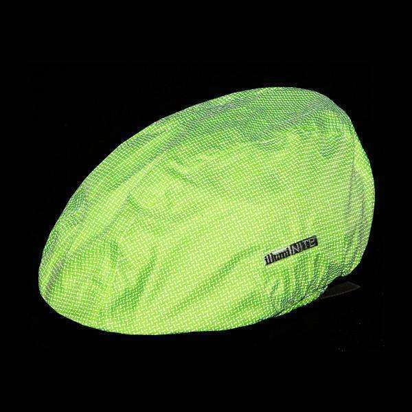 Waterproof Reflective Bike Helmet Cover in Flo Lime