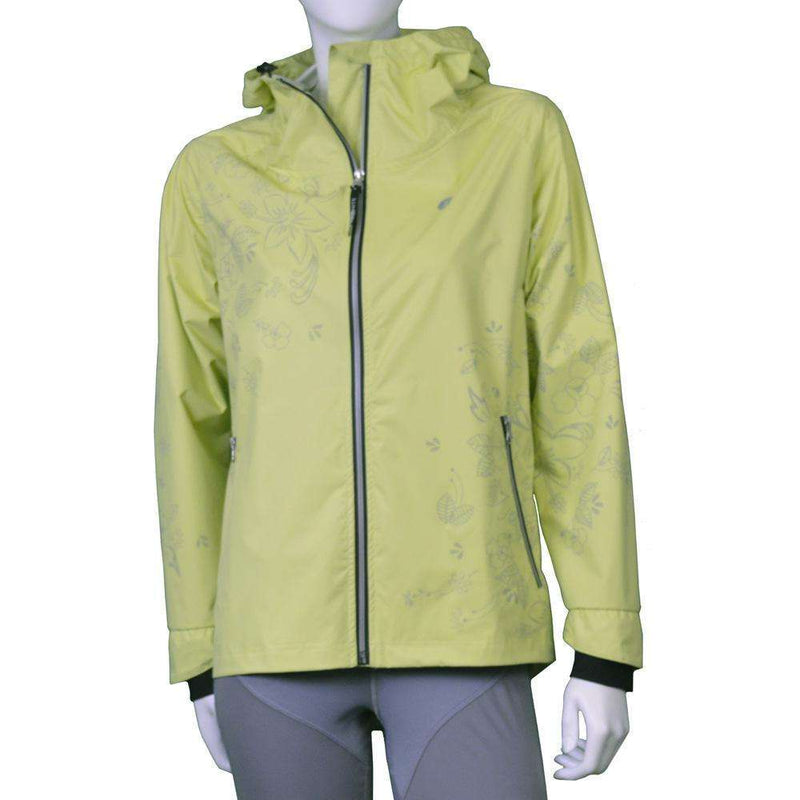 Waterproof Reflective Women's Colorado Jacket in Honeydew Floral