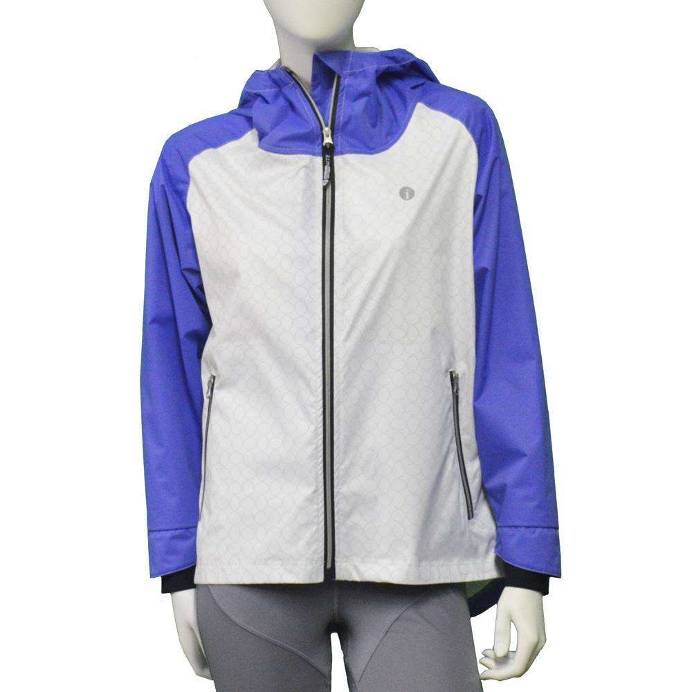Waterproof Reflective Women's Colorado Jacket in Periwinkle/White