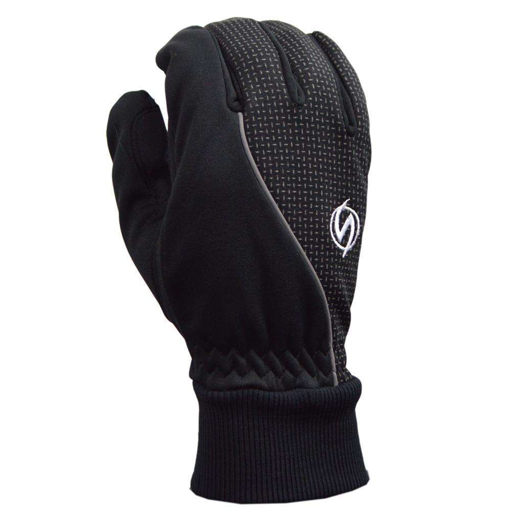 Windproof Reflective Men's Glove in Black--CLEARANCE