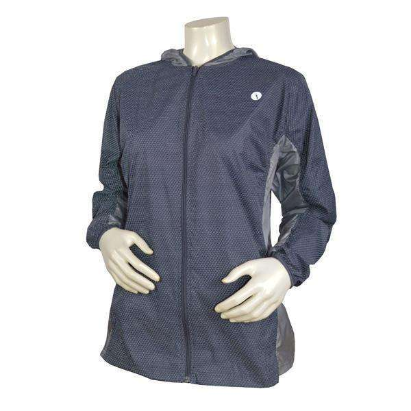 Women's Featherlite Reflective Hooded Nylon Packable Jacket in Graphite