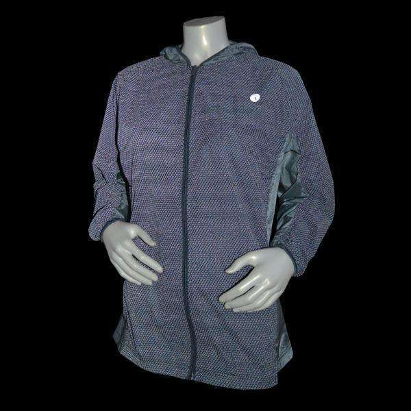 Women's Featherlite Reflective Hooded Nylon Packable Jacket in Graphite--CLEARANCE