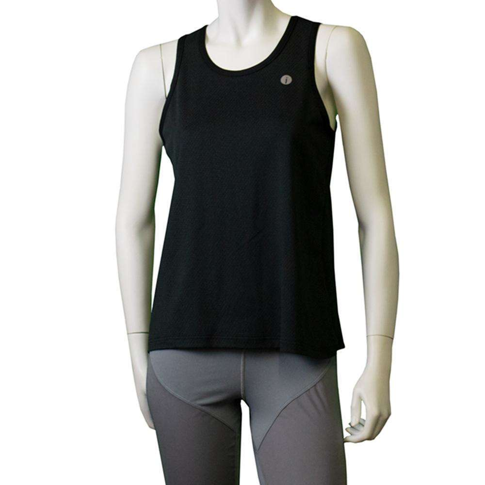 Women's Reflective Vigor Singlet in Black