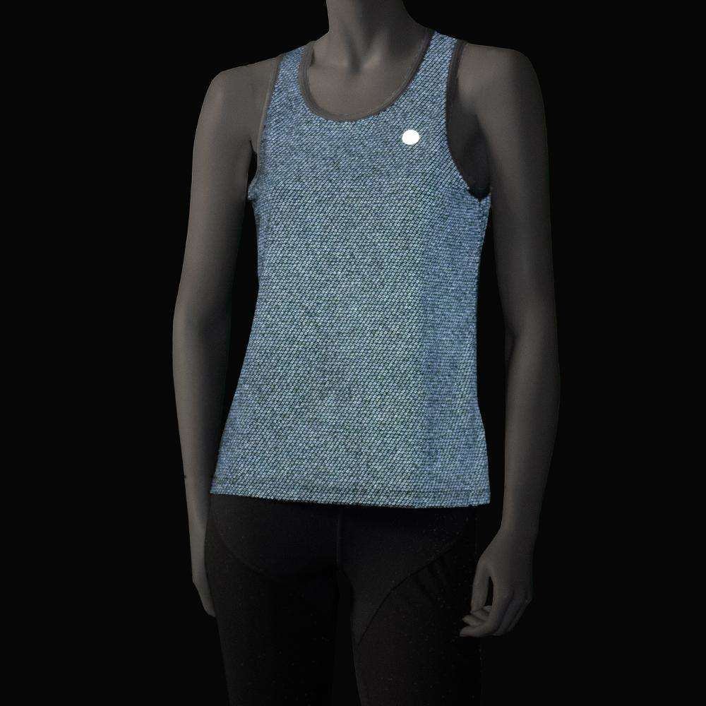 Women's Reflective Vigor Singlet in Graphite