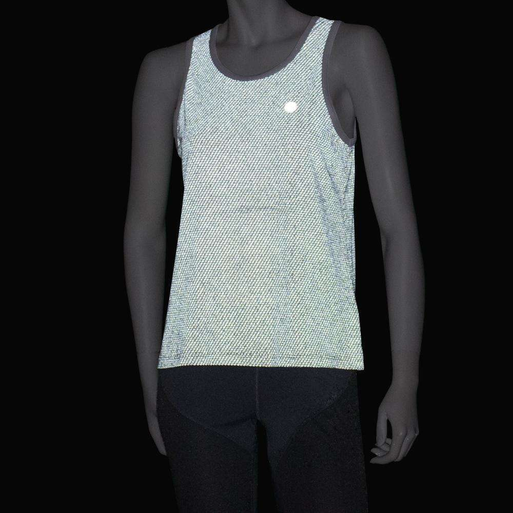 Women's Reflective Vigor Singlet in White