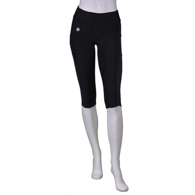 Women's Reflex Powerstretch Reflective Capri in Black