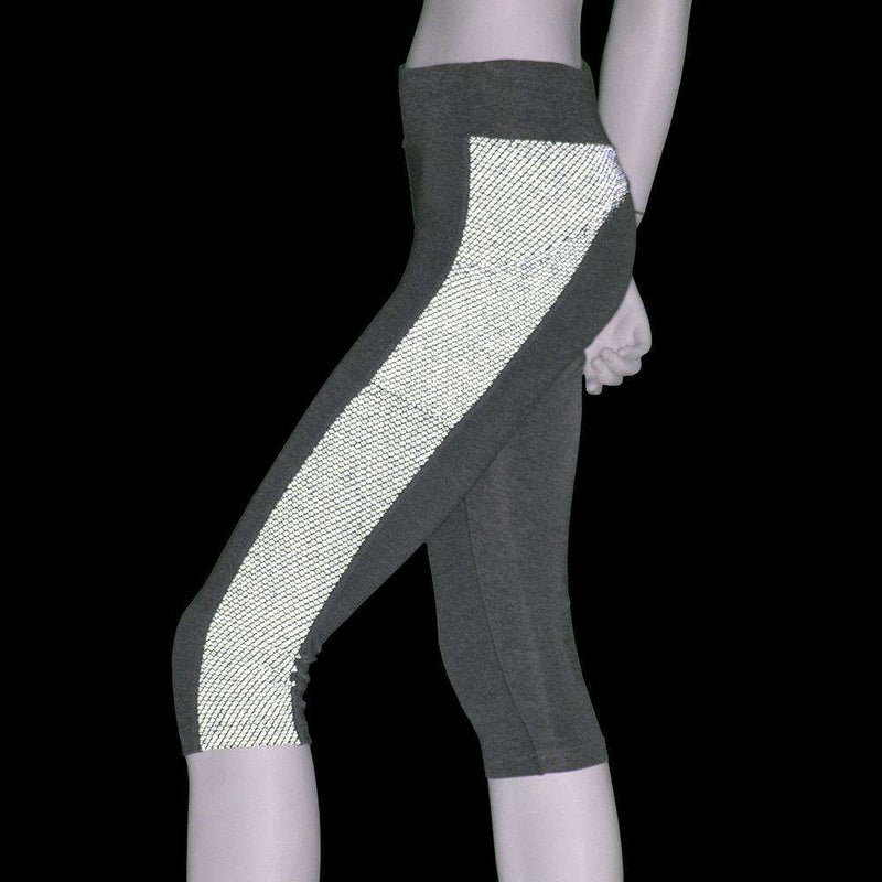 Women's Reflex Powerstretch Reflective Capri in Heather Gray