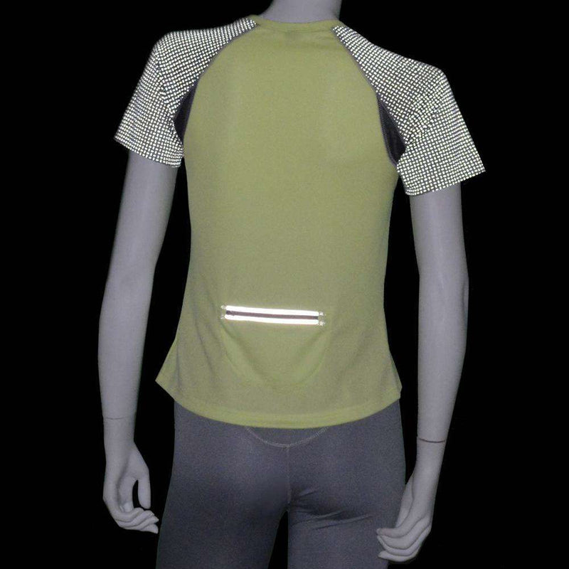 Women's Short Sleeve Savannah Shirt in Honeydew/Dark Gray