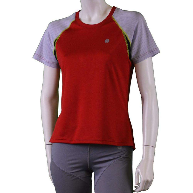 Women's Short Sleeve Savannah Shirt in Red/Gray