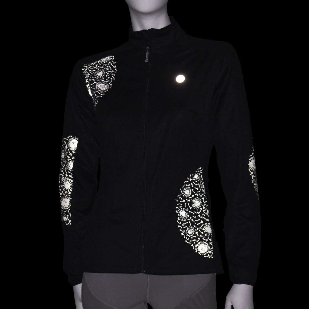 Women's Softshell Reflective Dandelion Jacket in Black