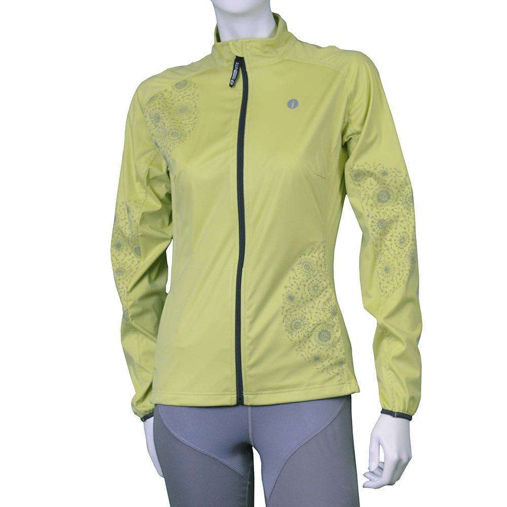 Women's Softshell Reflective Dandelion Jacket in Honeydew--CLEARANCE
