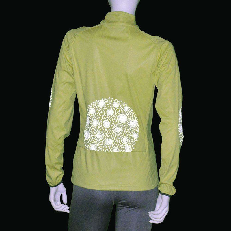 Women's Softshell Reflective Dandelion Jacket in Honeydew