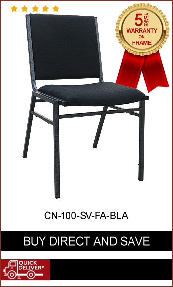 CN-100 Classic Stackable Chair (fabric or vinyl seat)