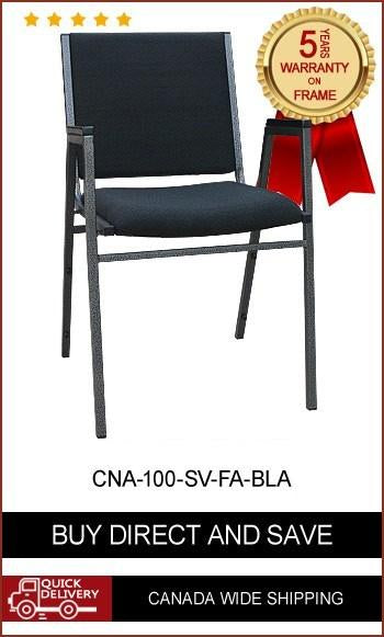 CNA-100 Classic Stackable Chair with Arms (fabric or vinyl seat)