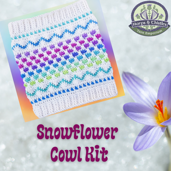 Snowflower Cowl Kit ~ Crochet