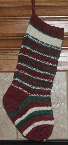 Slip Stitch Fair Isle Christmas Stocking - October 17 & 31