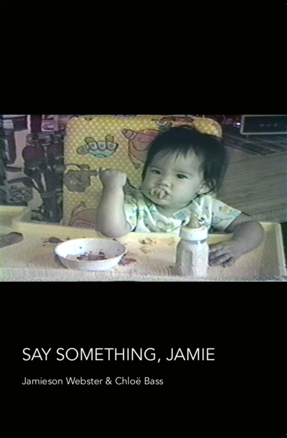 """Say Something, Jamie"" Publication by Jamieson Webster and Chloë Bass"