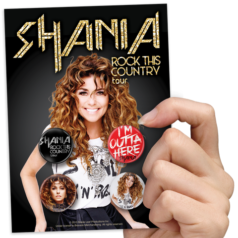 Shania Twain Rock This Country Button Pack