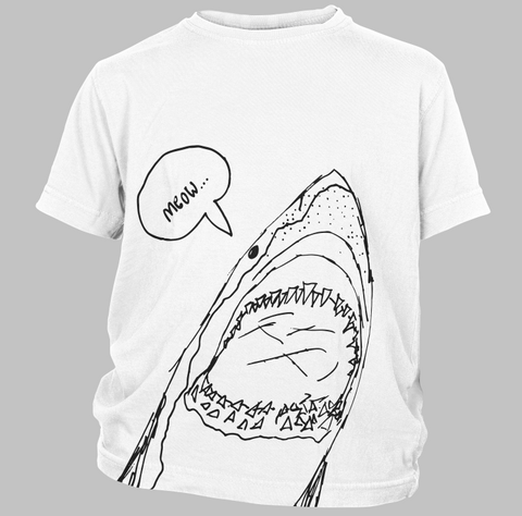 The Shark's Meow White Youth Tee