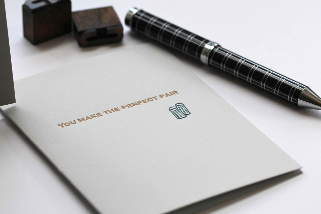 Custom invitations personal stationery business cards in edmonton you make the perfect pair reheart Images