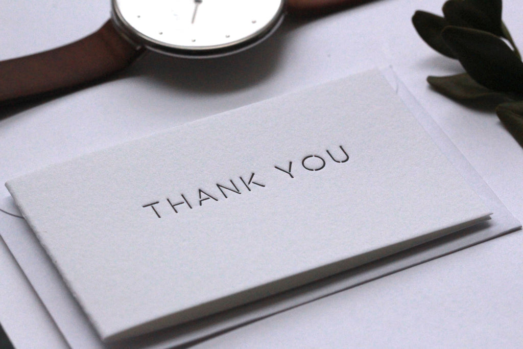 Mini Thank You Cards - For the Sans Serif Lovers