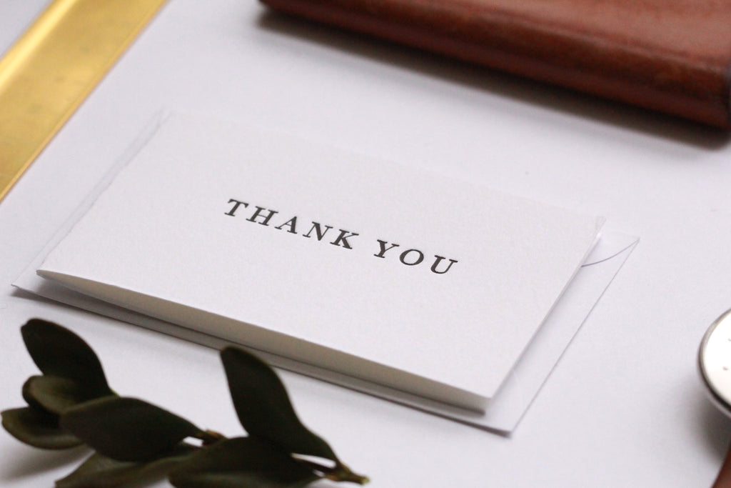 mini thank you cards for the serif lovers uppercase press