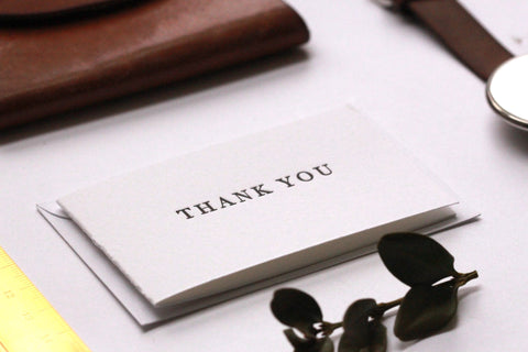 Mini Thank You Cards - For the Serif Lovers