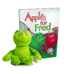 Apples for Fred Book + Plush Fred the Frog