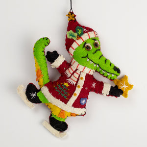 Tator the Gator Handmade Ornament