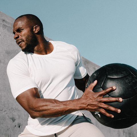 An image of a man exercising