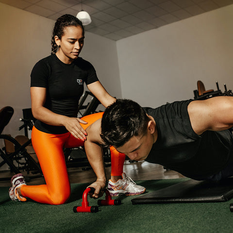 An image of a person doing personal training.