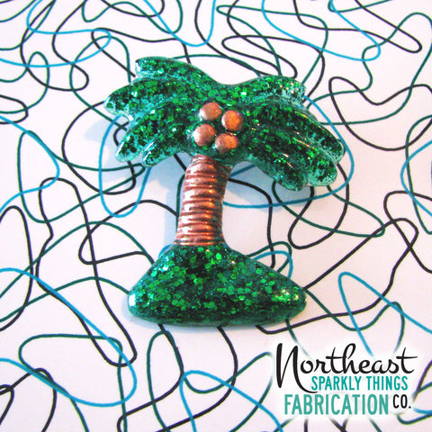 BREEZY PALM TREE - brooch