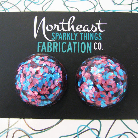 COTTON CANDY - half globe earrings