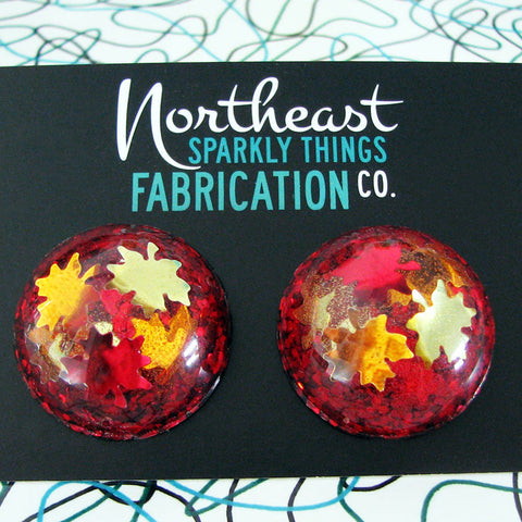 NEW ENGLAND AUTUMN - half globe earrings